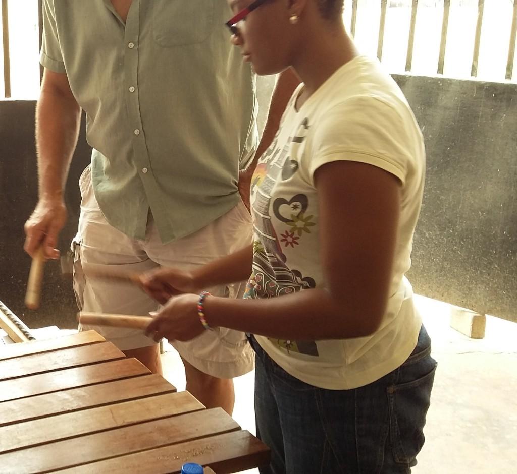 Merita and Jimmy with SA4 Xylophone