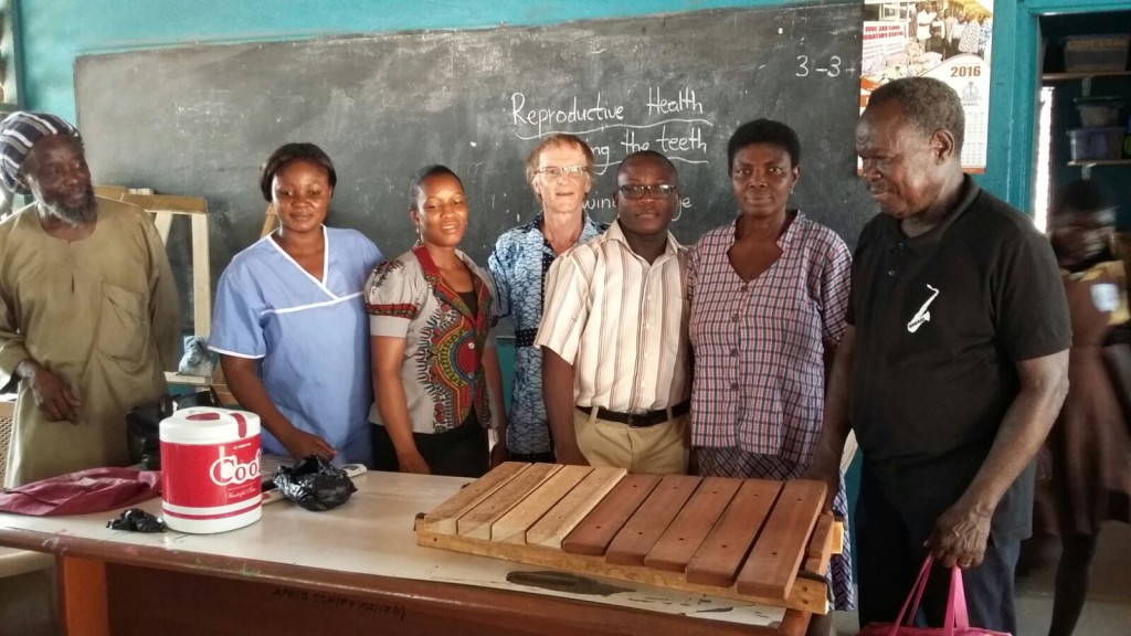 Pentatonic xylophone donated to the school at the Psychiatric Hospital Accra