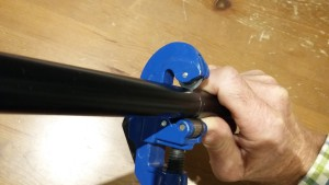 Using a tube cutter